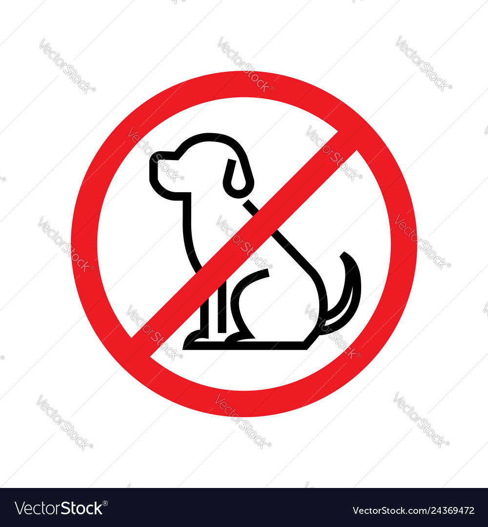 No dogs allowed dog prohibition sign