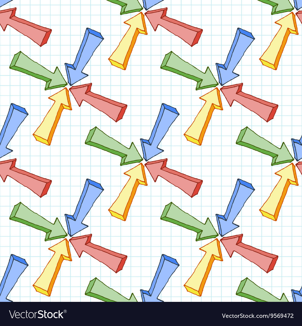 Seamless pattern of multi-colored volume vector image