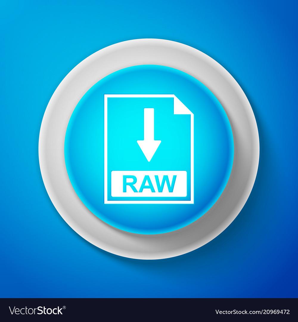 White raw file document icon download raw button