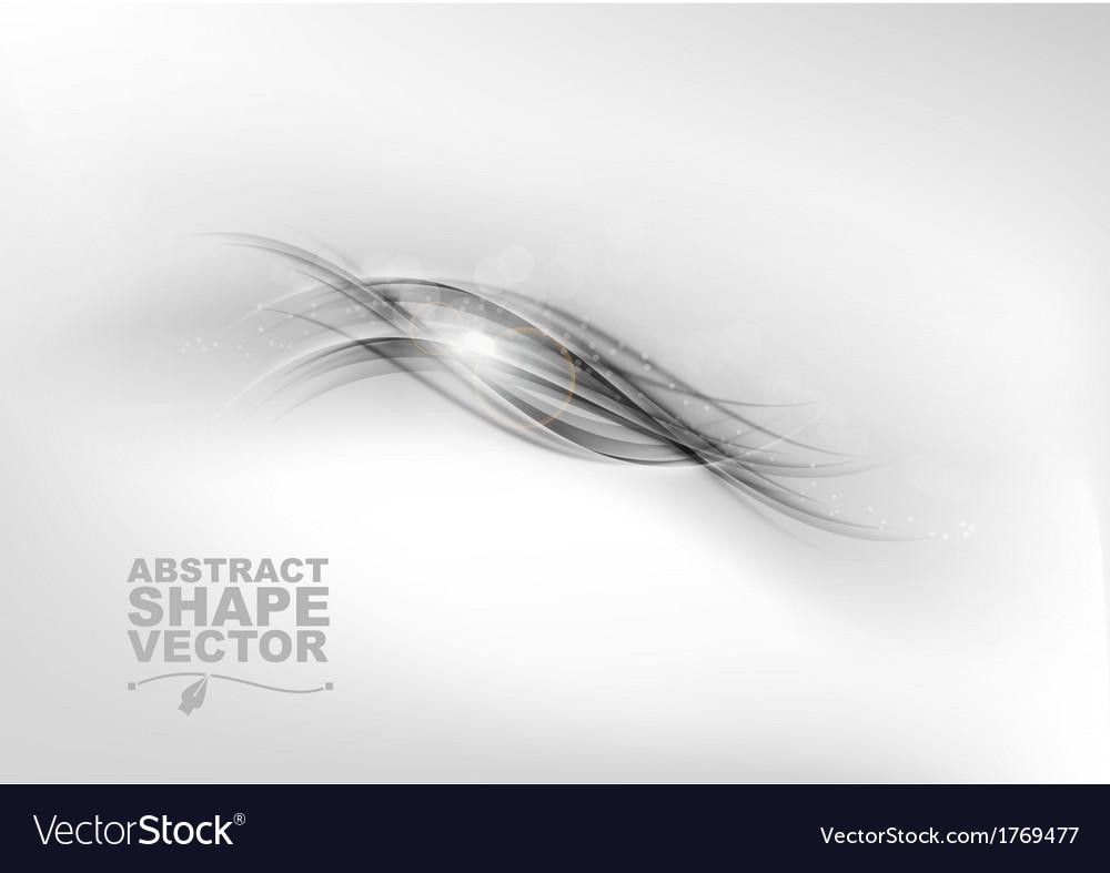 Abstract grey center text vector image