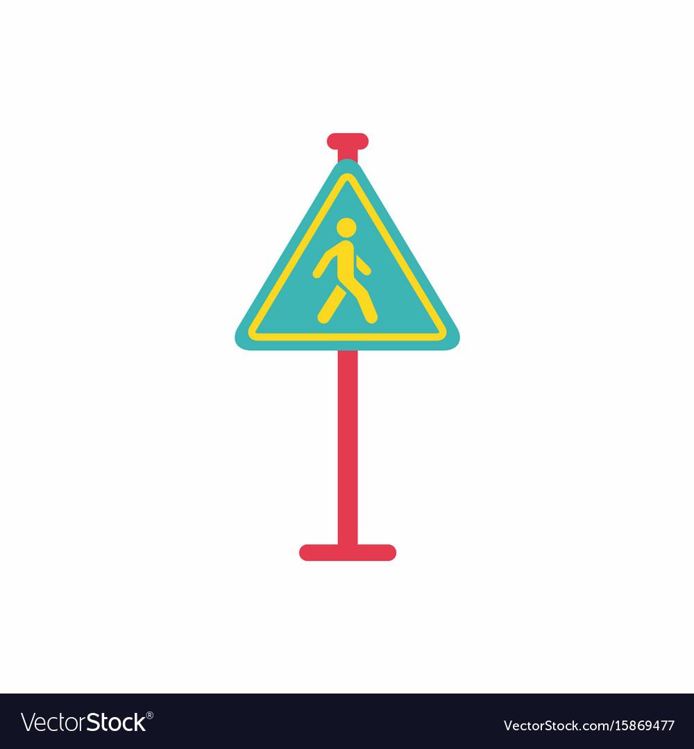 Crosswalk traffic signman walking road sign