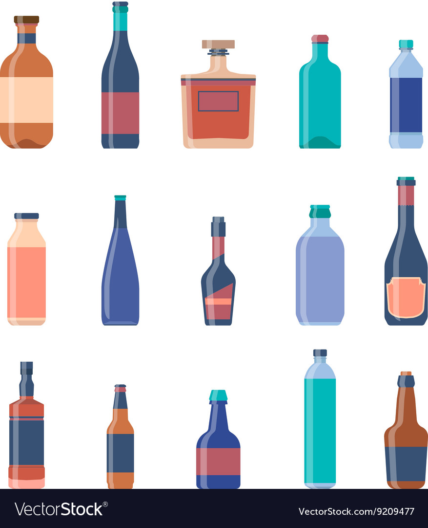 Different bottles collections Beer vintage