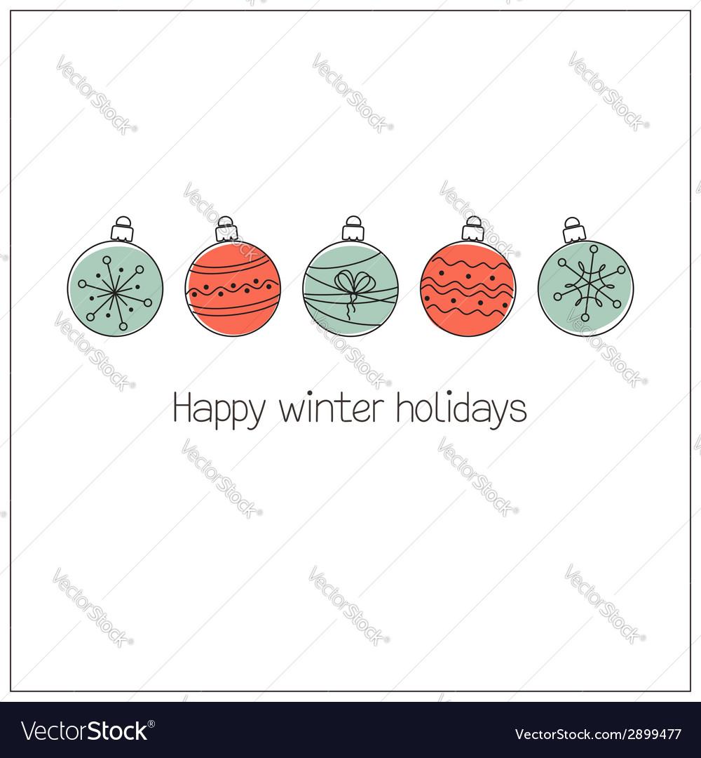 Doodle Christmas balls