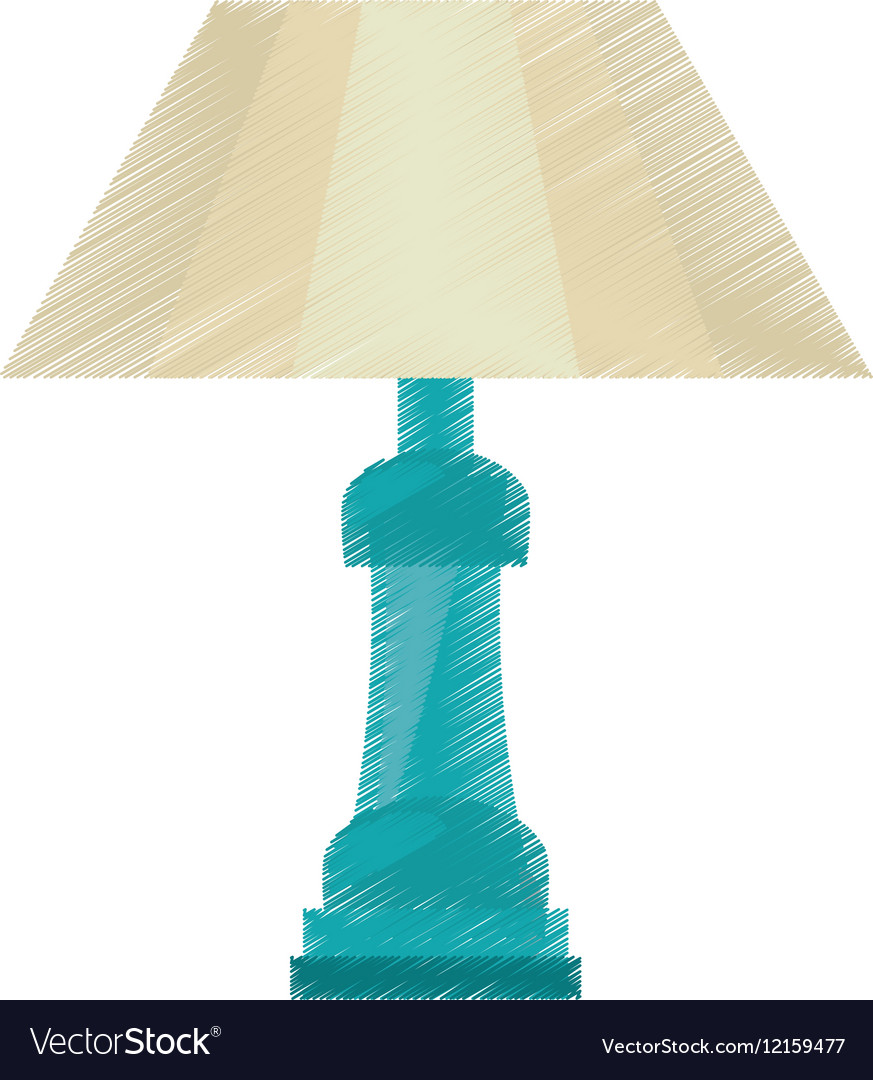 Drawing table lamp house appliance decorative vector image aloadofball Image collections