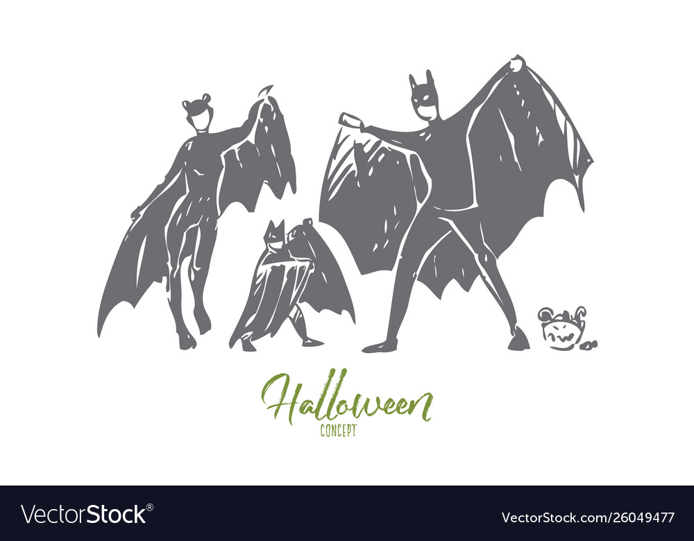 Halloween concept sketch isolated