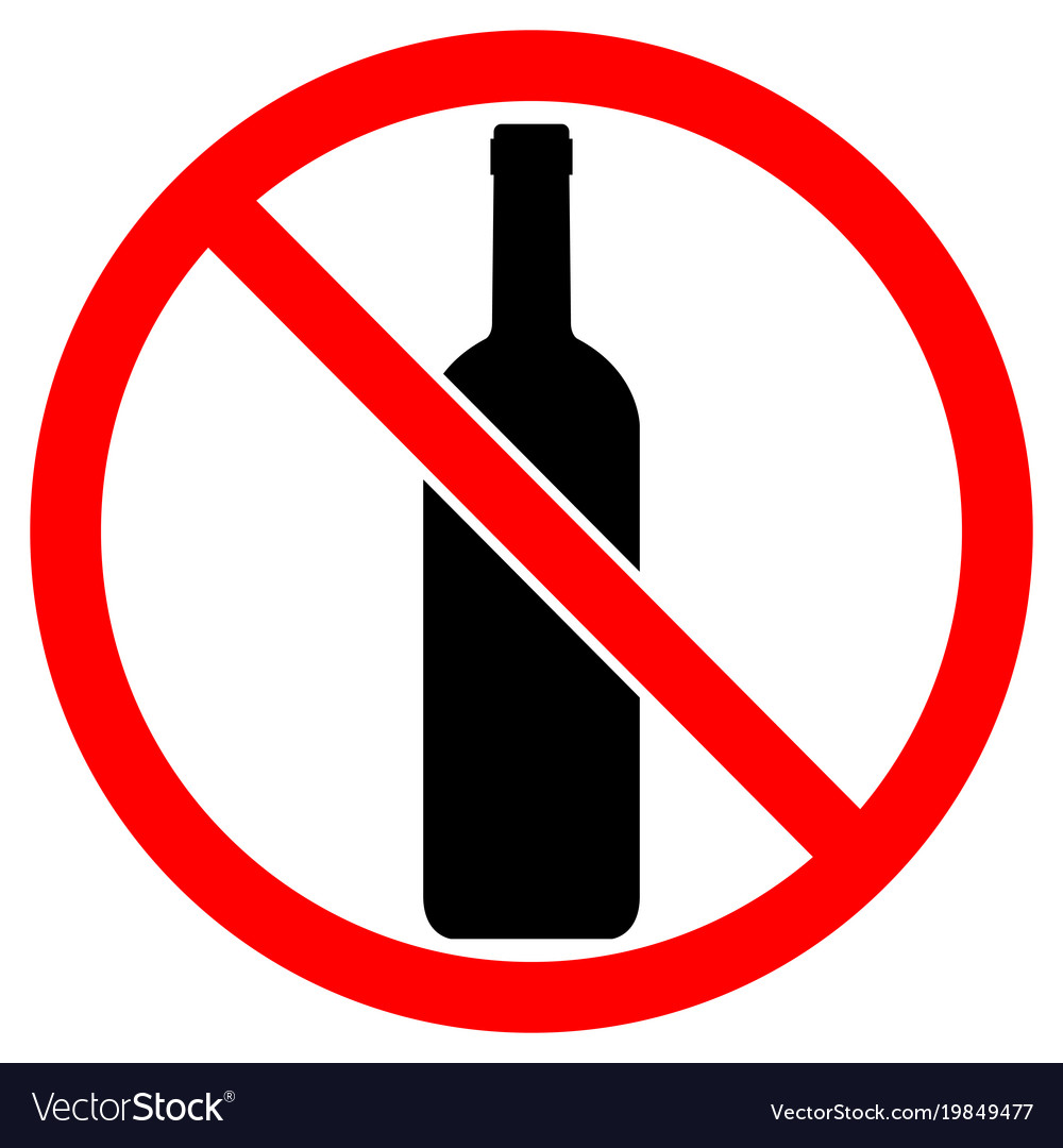 Sign of prohibition of alcoholic beverages