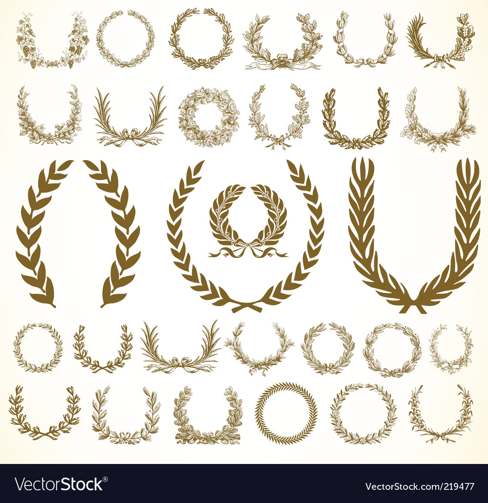 Victory wreaths vector image