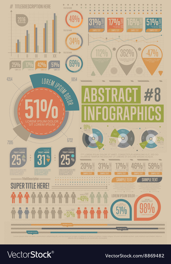 Abstract infographic elements Graph icon