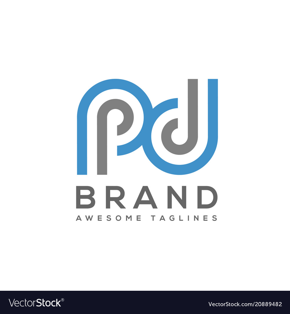 Abstract letter pd logo