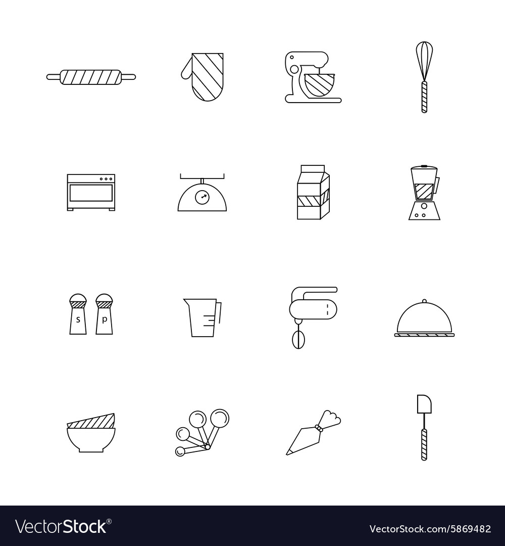 Bakery set vector image
