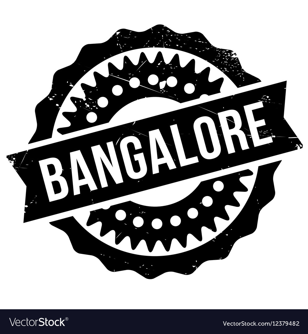 Bangalore stamp rubber grunge vector image