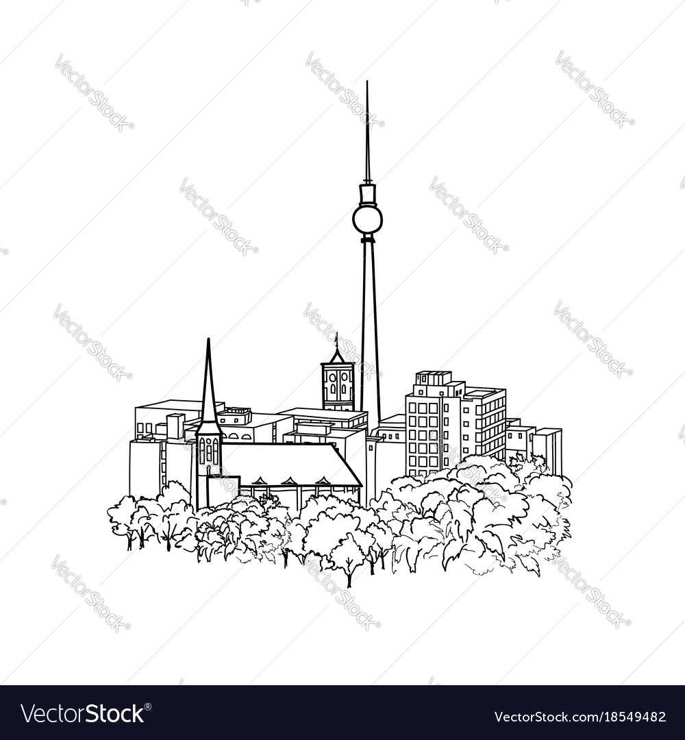 Berlin cityscape travel germany famous buildings