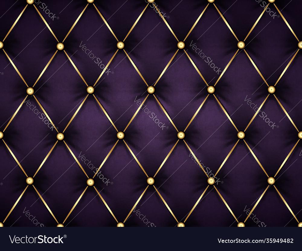 Dark purple leather capitone background texture