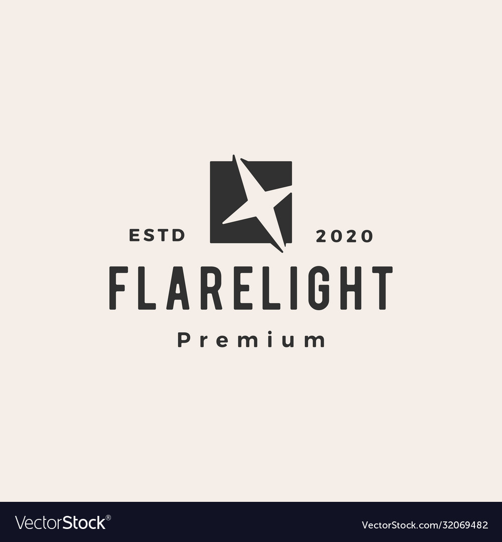 Flare light hipster vintage logo icon