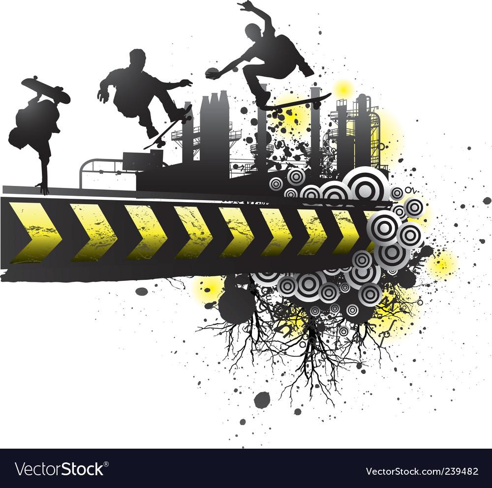 Grunge skateboard art