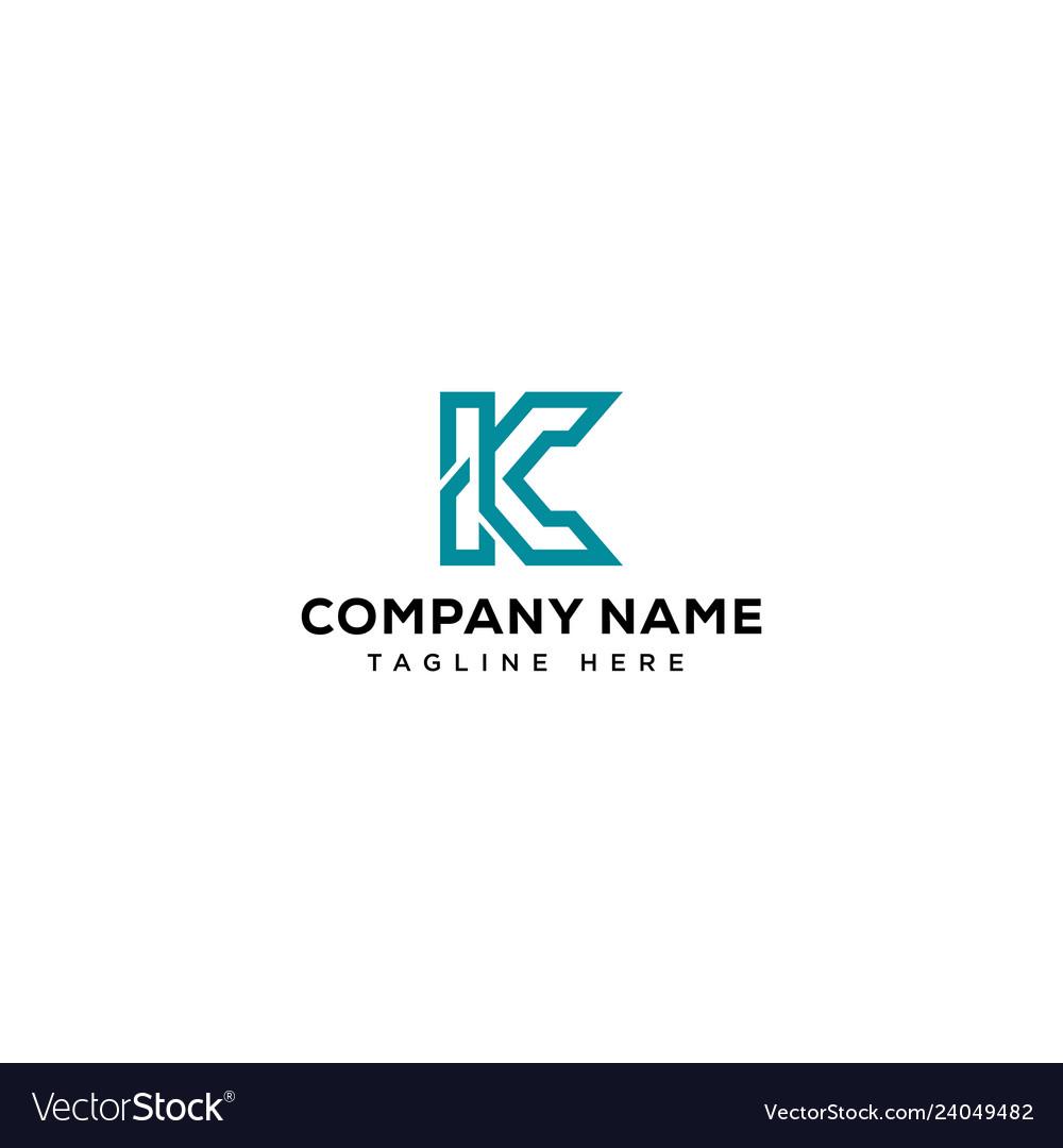 K initial logo design