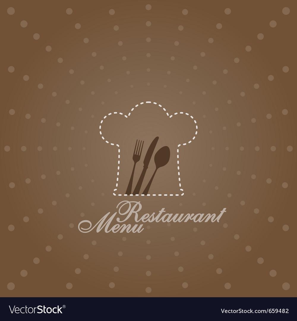 Menu with chef symbol