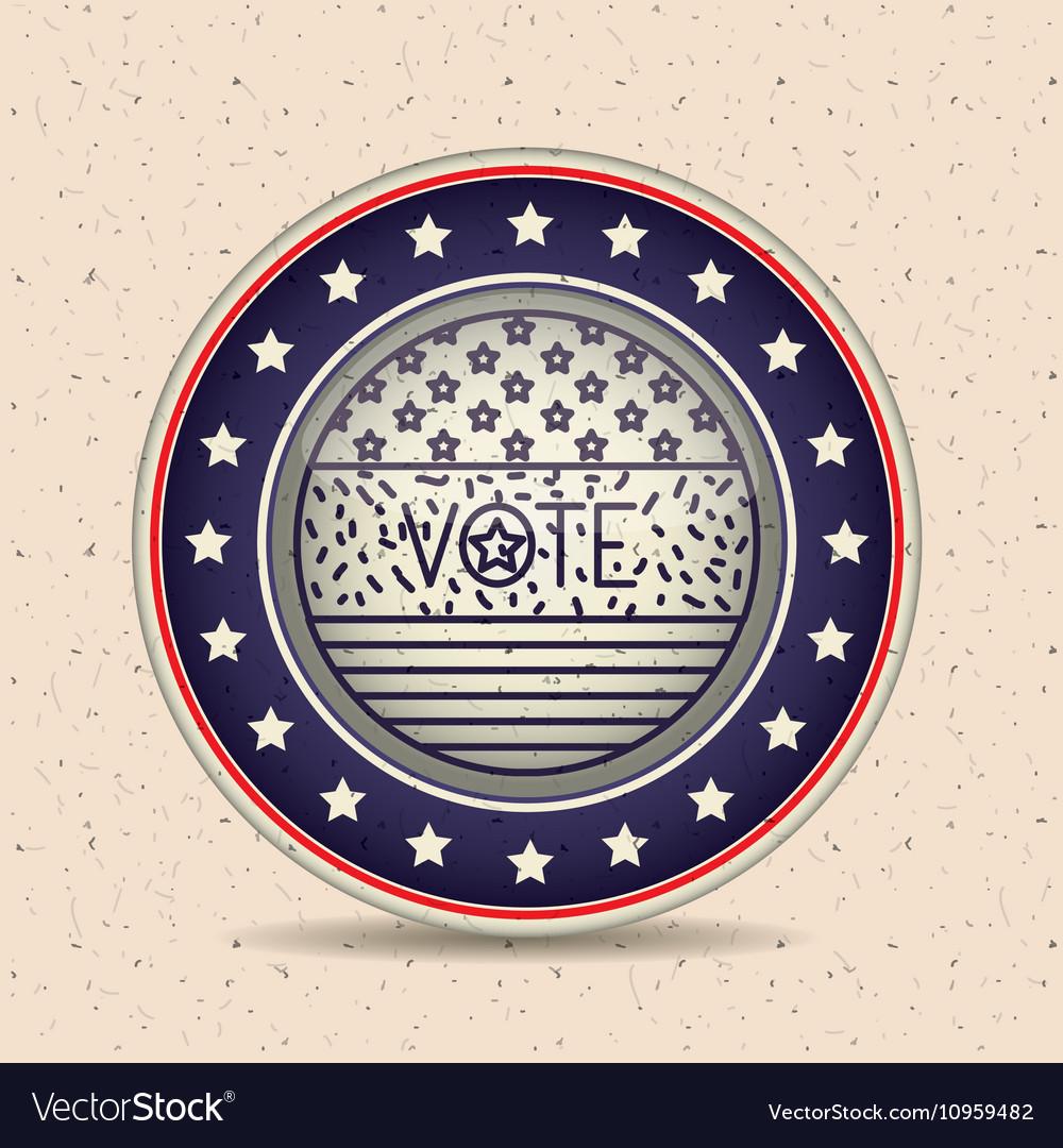 Stars and button of vote concept