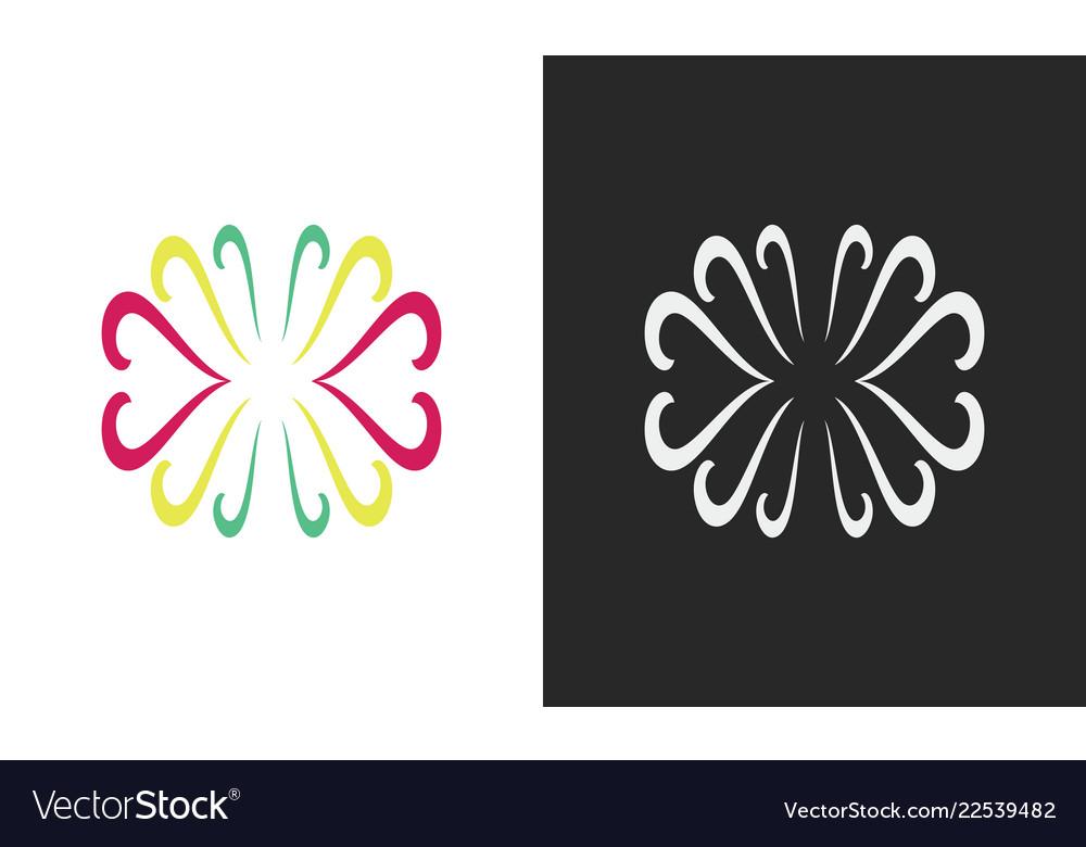 Swirl colored decoration logo