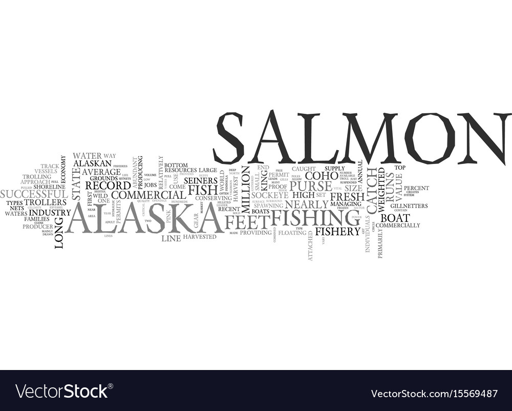 Alaska s commercial salmon fishery text word