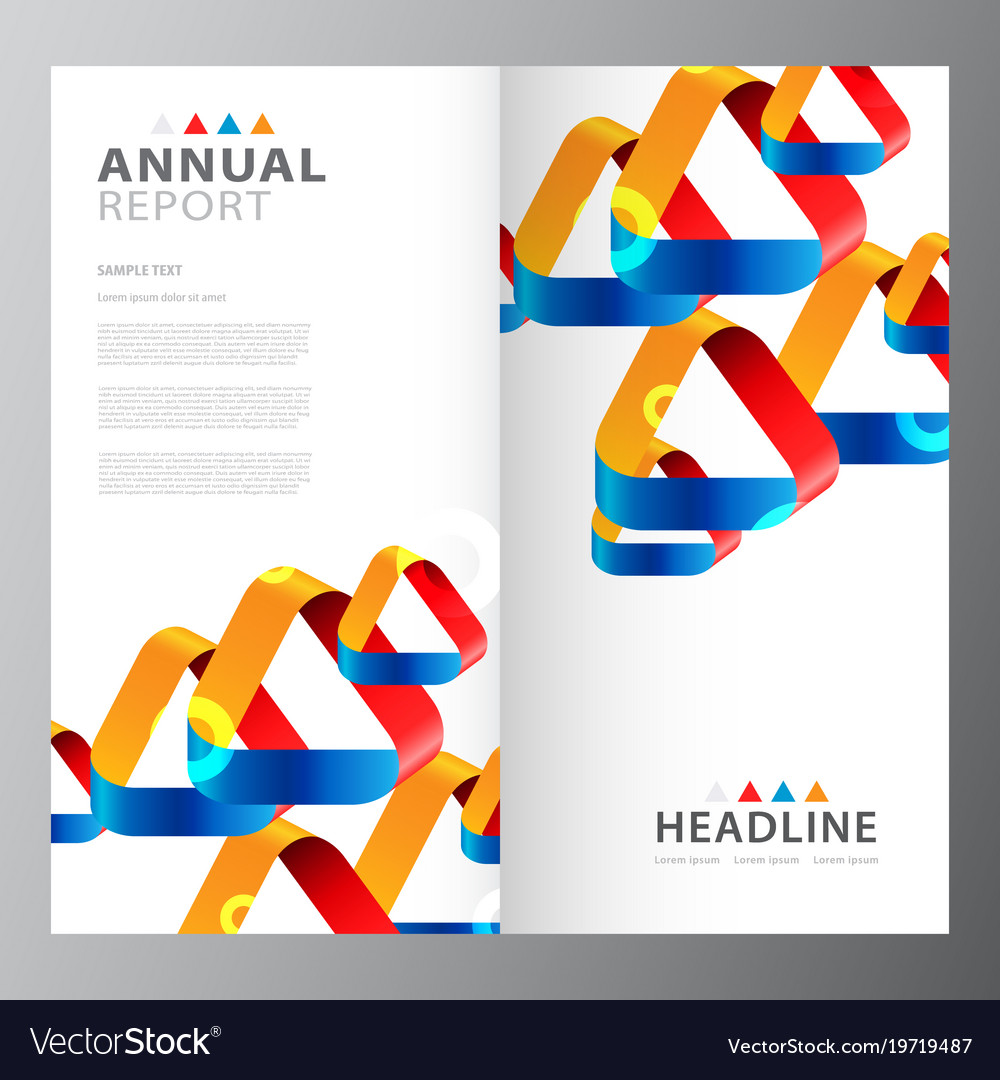 annual business report template royalty free vector image