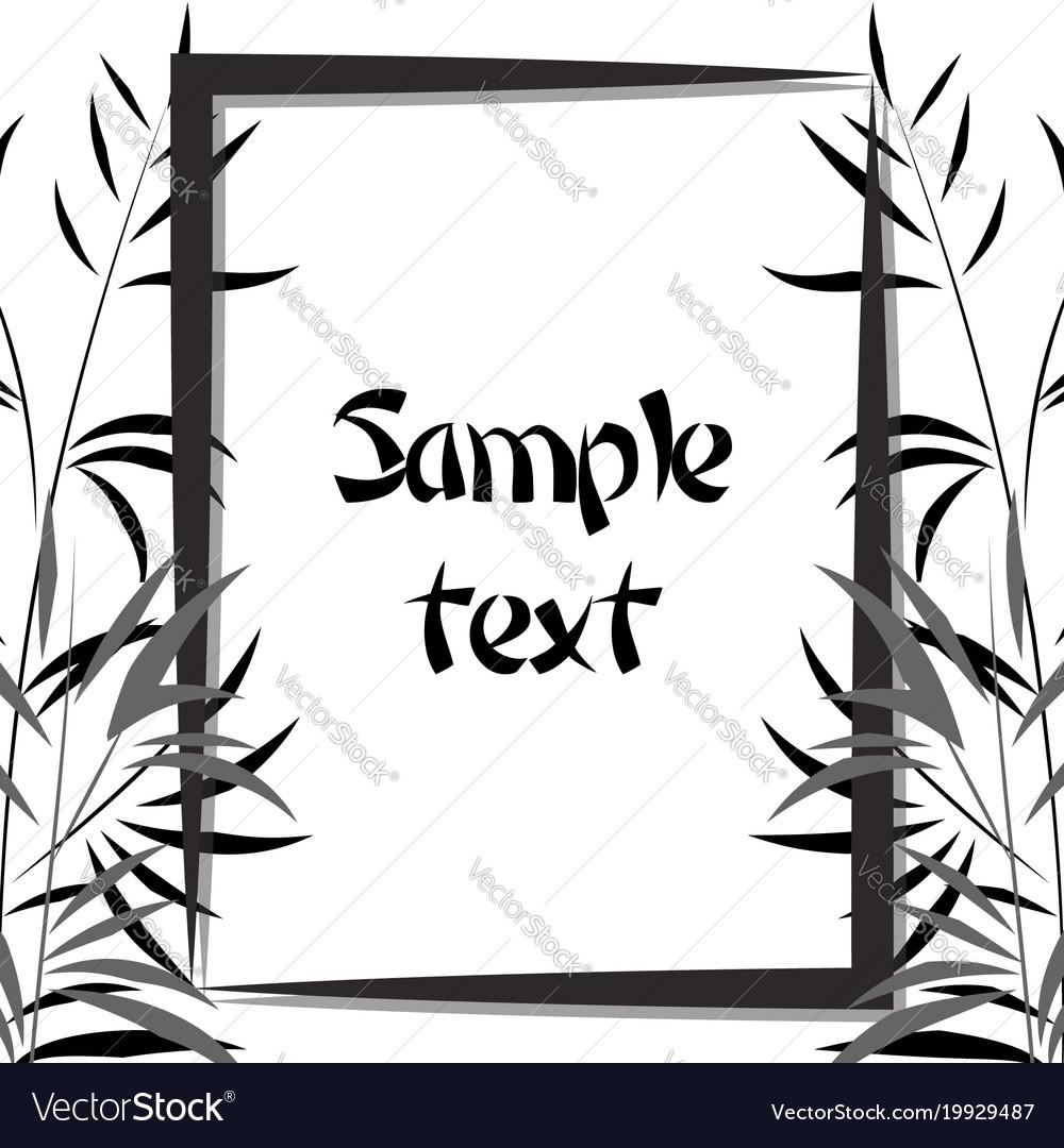 Bamboo frame black and white