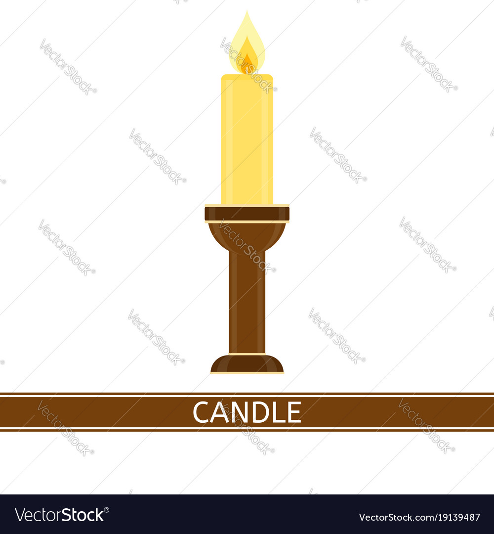 Candlestick with candle isolated