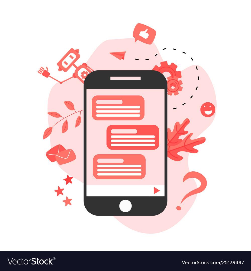 Chatbot business concept