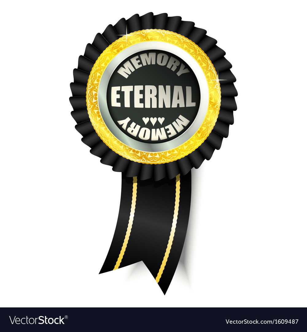 Eternal memory sign vector image