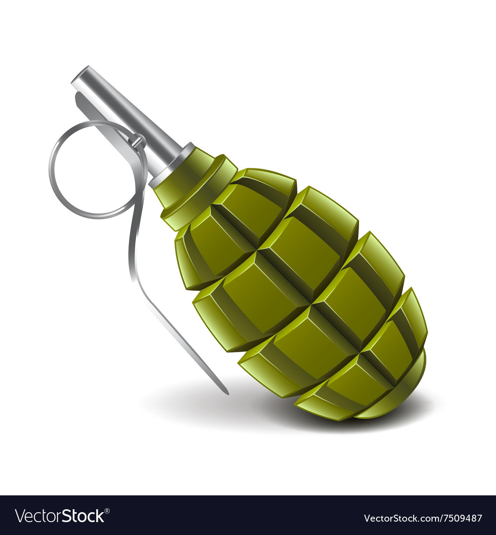 Grenade isolated on white