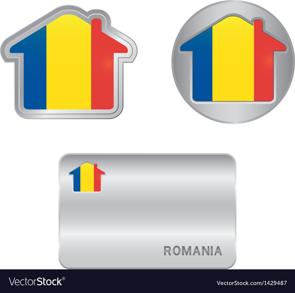 Home icon on the Romania flag