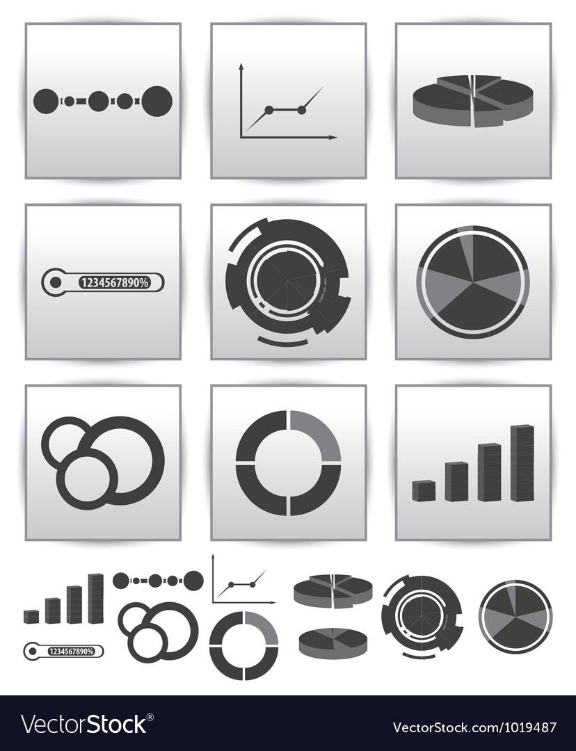 Infographics set icon Swirl line graph