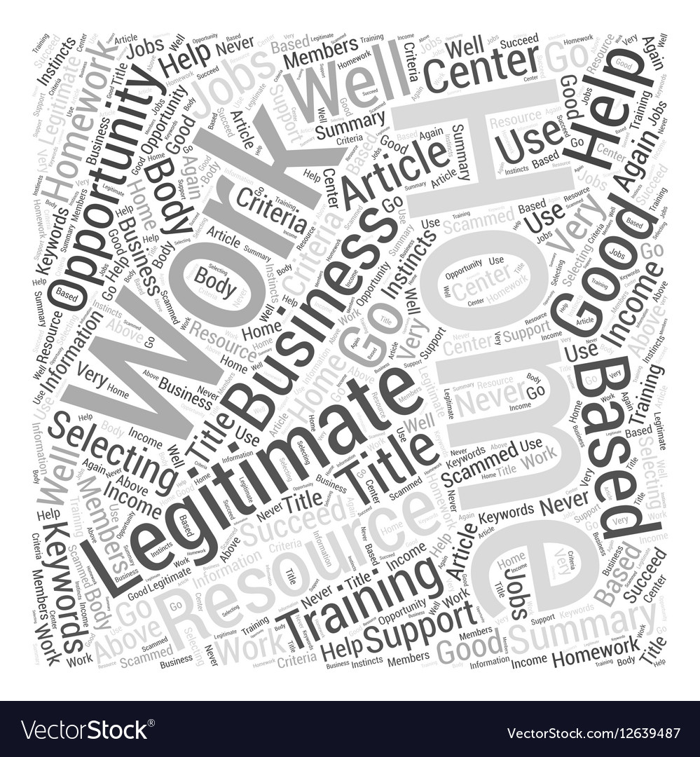 legitimate work from home opportunities word cloud