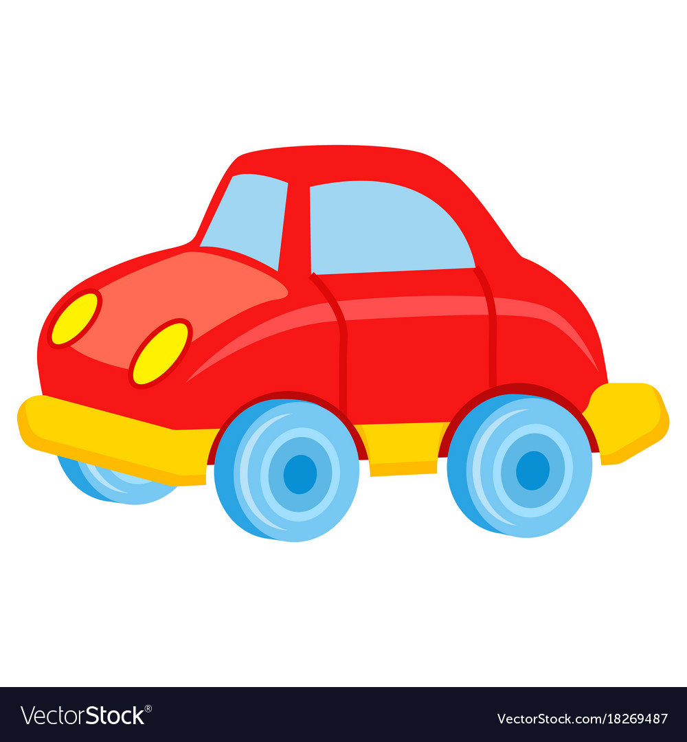 red toy car with blue wheels royalty free vector image rh vectorstock com car vector free car vector art