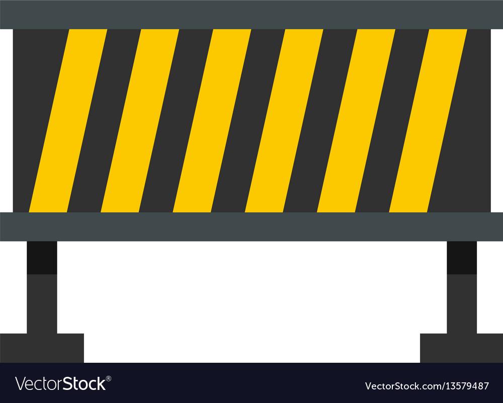 Safety barricade icon flat style