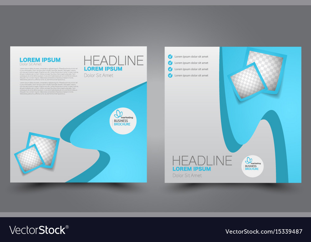Azure Flyer Template | Square Flyer Template Brochure Design Royalty Free Vector