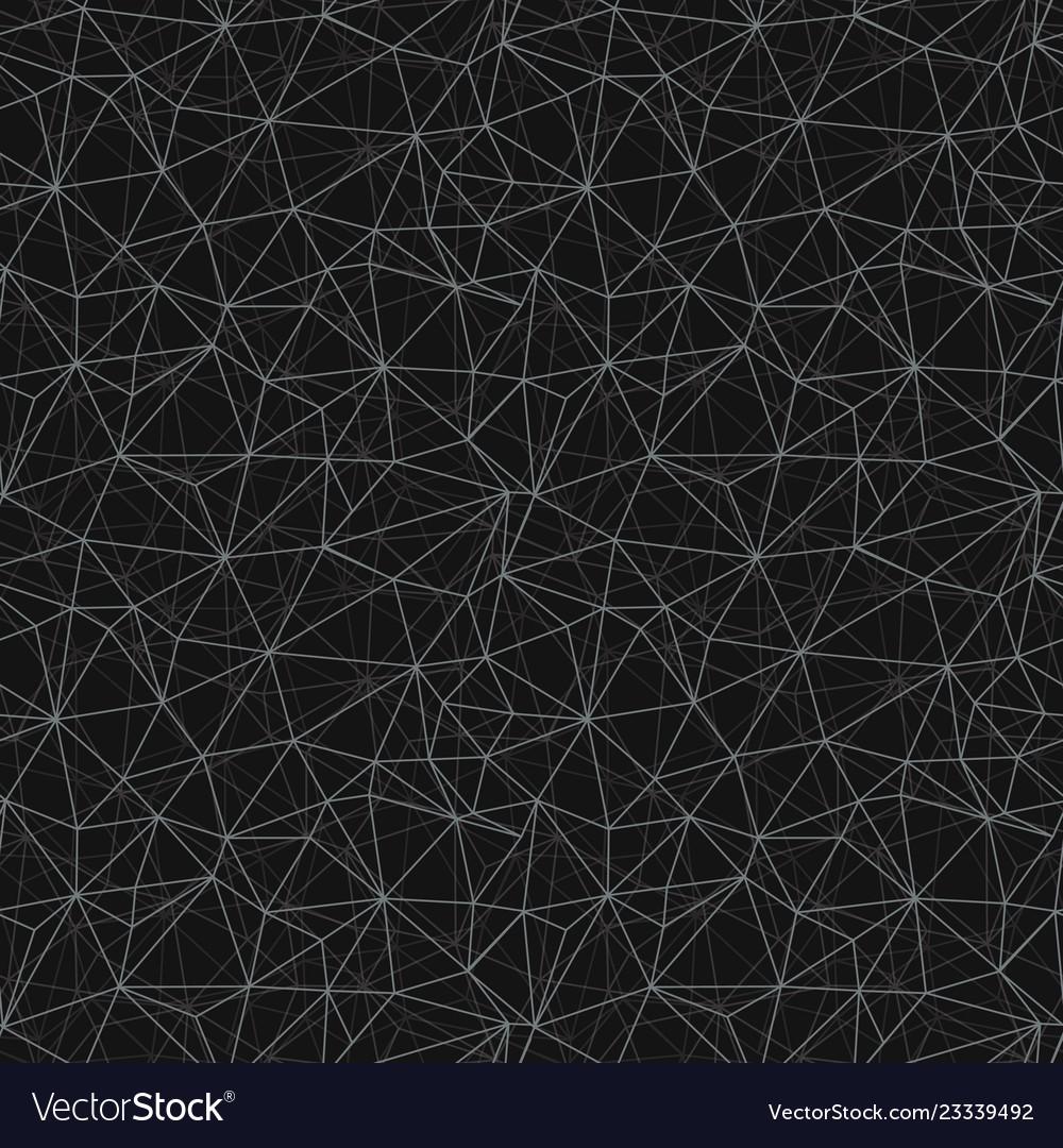 Black grey network web texture seamless pattern