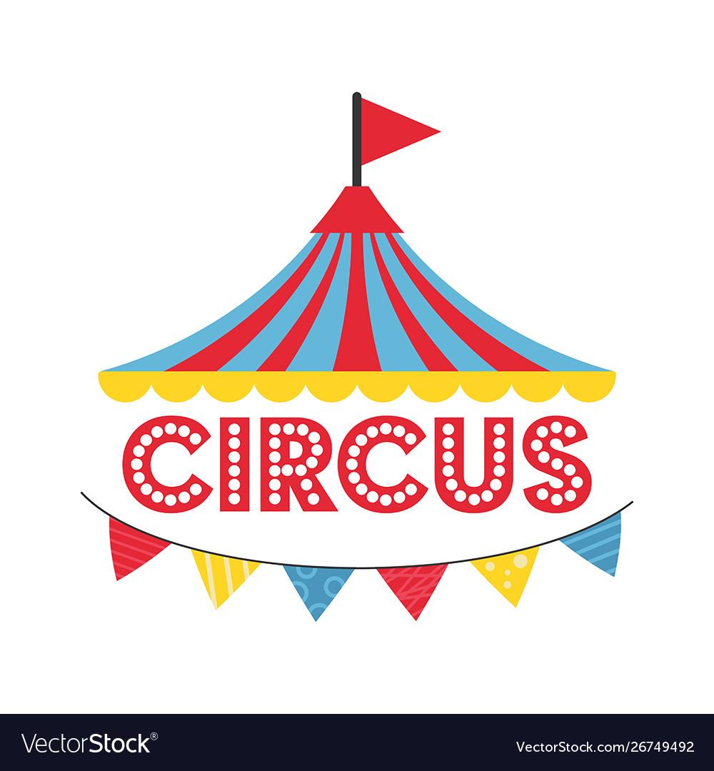 Carnival circus banner carnival