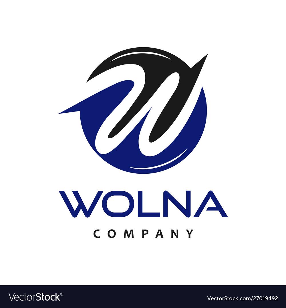 Initial circle logo w