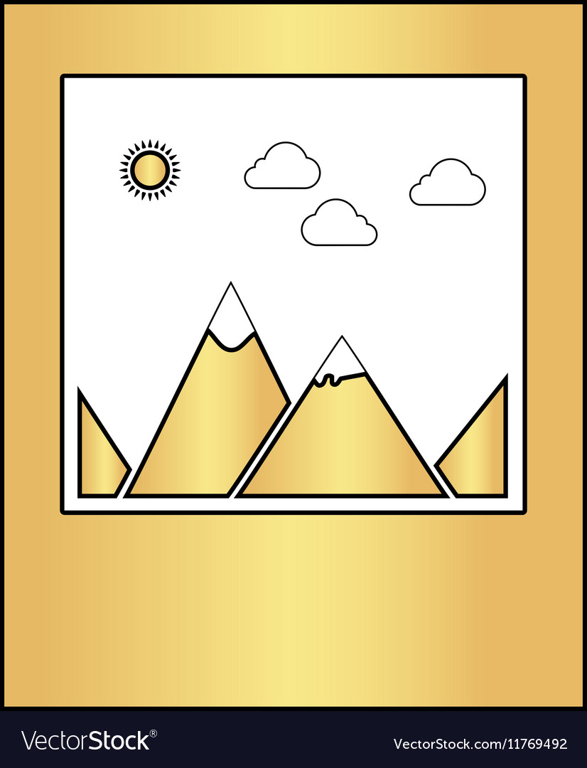 Nature photo computer symbol vector image