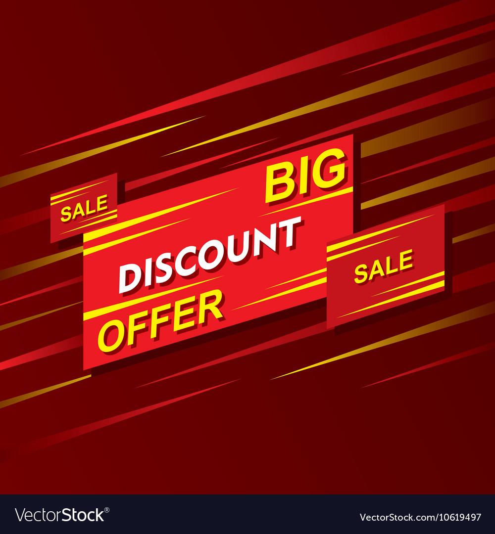 Big discount offer banner design