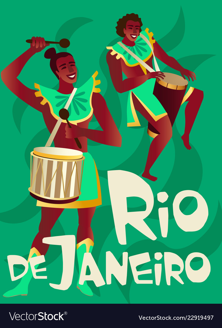 Brazilian samba posters carnival in rio de janeiro