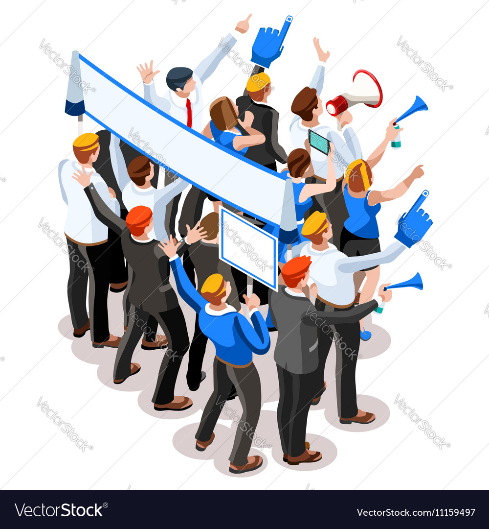 Election Infographic Speaker Audience Isometric vector image