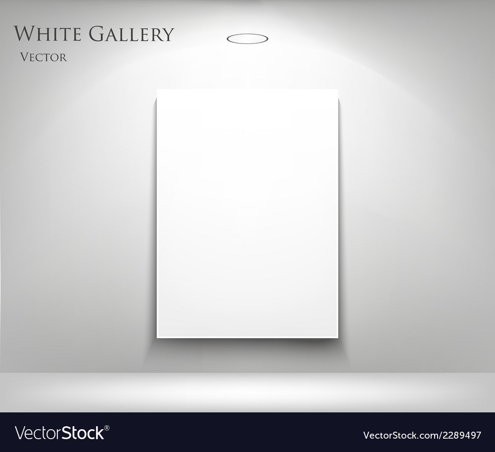 Gallery with empty frame
