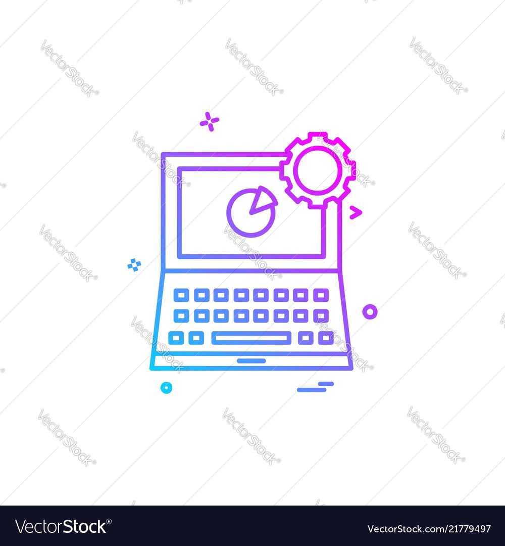 Laptop icon design