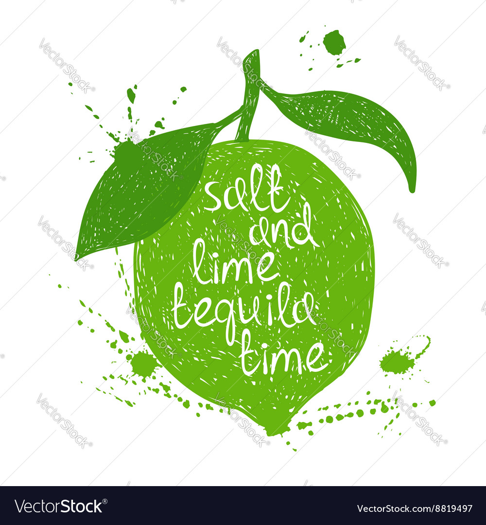 Of Isolated Lime Silhouette