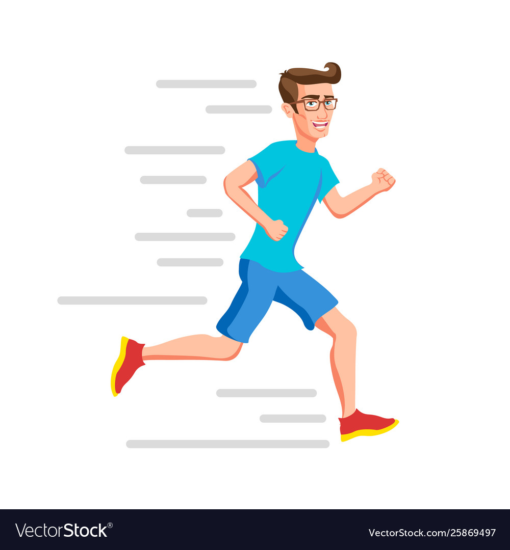 Running man sport run active fitness exercise and