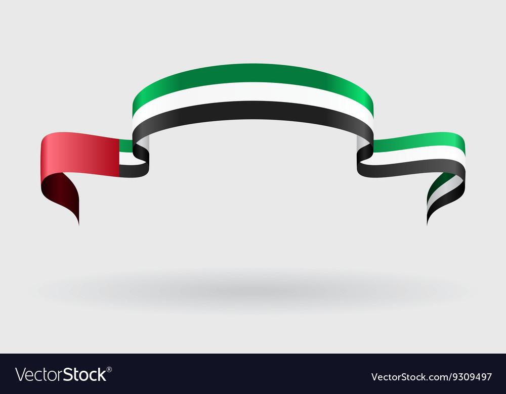 United Arab Emirates flag background