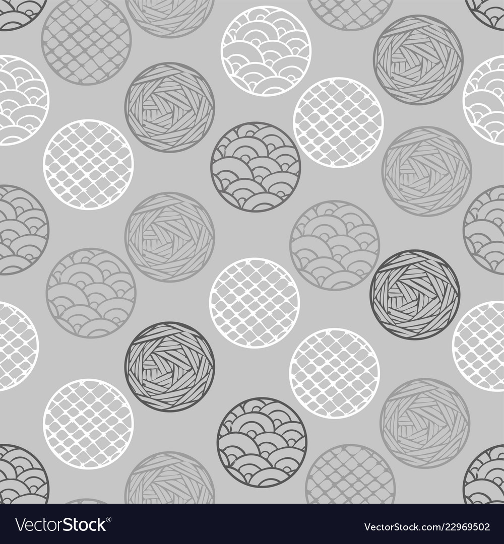 Abstract geometric pattern the points circles