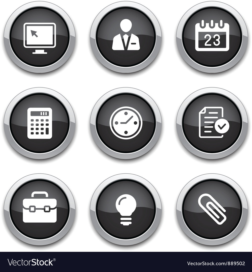 Black business office buttons